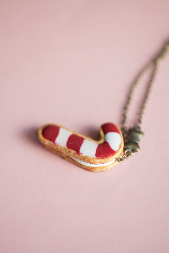 Candy Cane Frosted Cookie / Xmas christmas gift / fake by Ilianne