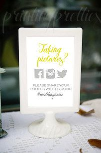 #SocialMedia is obviously a big deal, so figure out how to incorporate it — or not — into your wedding. | 41 Things You Wish You Knew Before Your Wedding Day