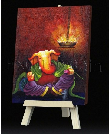 Limited Edition Ganesha Painting with La,p