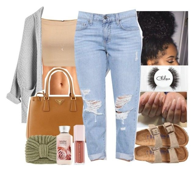 """""""Captionless ♀️"""" by monimassacre ❤ liked on Polyvore featuring Alice + Olivia, Prada, Birkenstock, Chelsea Beautique, Rosie Sugden, Puma and Minor Obsessions"""