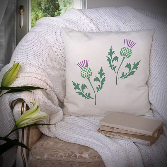 The CraftStar Scottish Thistle Stencil is instantly recognisable to anyone with an interest in Scottish heraldry. The prickly national flower of Scotland has been used in emblem designs for over 500 years. Perfect for adding some finishing touches to your home decor.  CraftStar stencils are laser cut from a premium Mylar polyester film. Stencils are incredibly versatile and can be used for lots of different home and crafting projects. Why not have a go at stencilling on walls, floors…