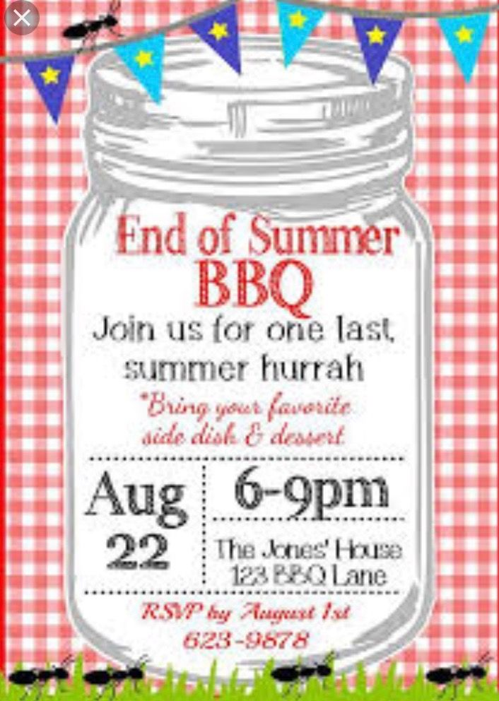 End If The Summer Bbq Party Ideas Bbq Party Invitations Summer