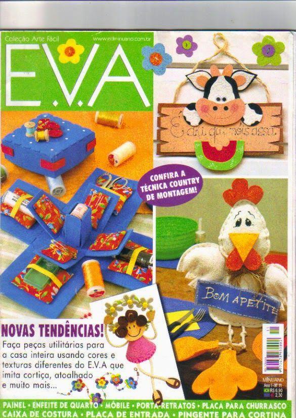 Artesanato com amor...by Lu Guimarães: Revista Arte Fácil EVA n11