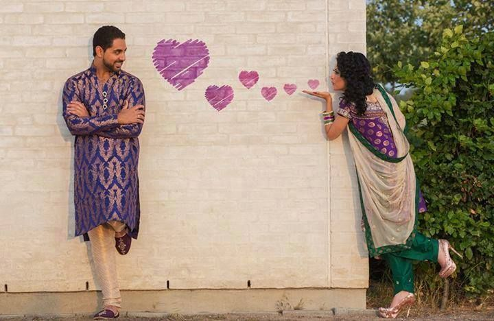 An indian photo shoot, but could be a cute idea for any couple!