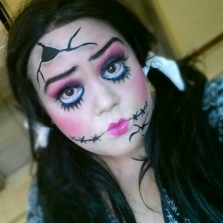 #broken #porcelain #doll #makeup | Halloween | Pinterest ...  #broken #porcel...
