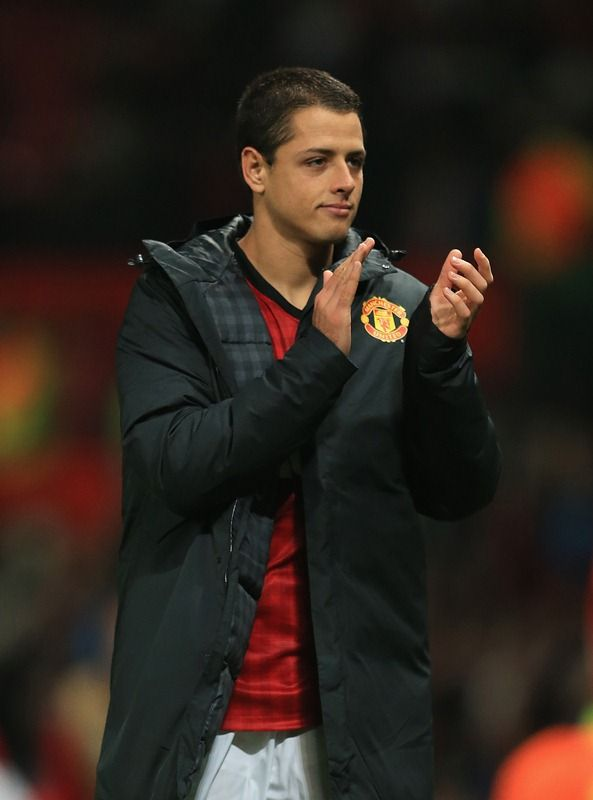 Manchester United striker Javier 'Chicharito' Hernandez looks forward to hopefully facing Chelsea after scoring two goals in the Champions League against SC Braga.