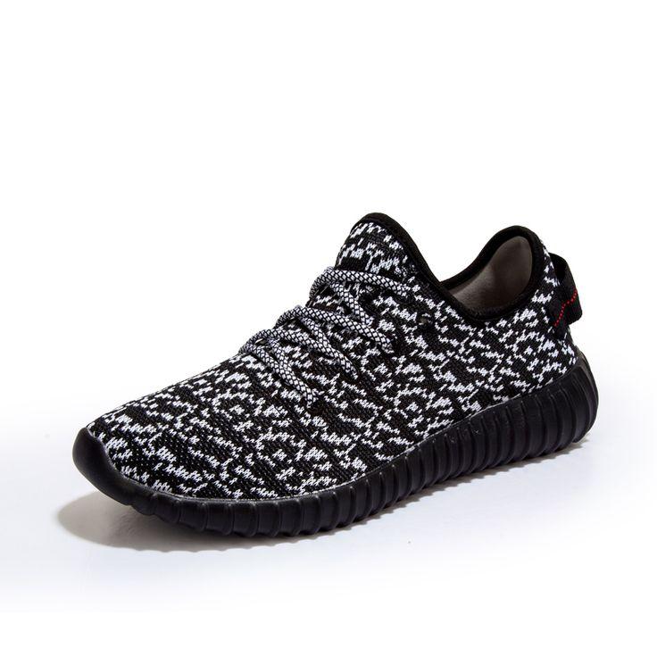 Más el tamaño 35-47 marca para hombre y mujeres 2017 transpirable barato yeezy athletic zapatos corrientes al aire libre zapatos de deporte zapatillas de deporte negro azul