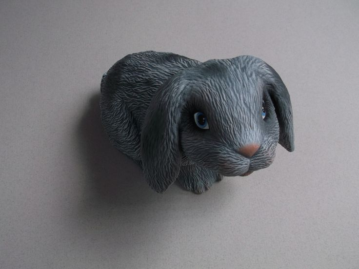 """Dry brushed Bunny by Craft at Fourways """"One of a Kind"""" artist Margie Gray"""