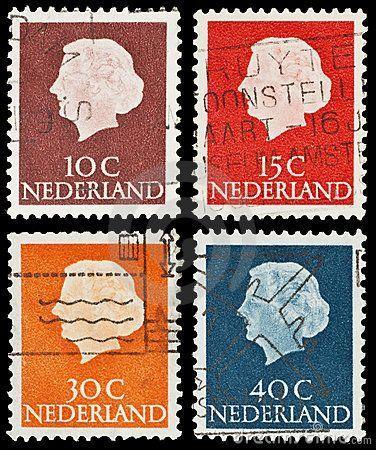 Netherlands old postage stamps