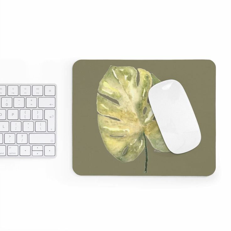 Excited to share the latest addition to my #etsy shop: Office mousepad, #Tropical #mousepad, Botanical mouse pad, Palm mousepad, Office Desk Accessory, watercolor desk mat, neutral desk accessory http://etsy.me/2HnOXLb #geekery #computer #accessories #green #birthday