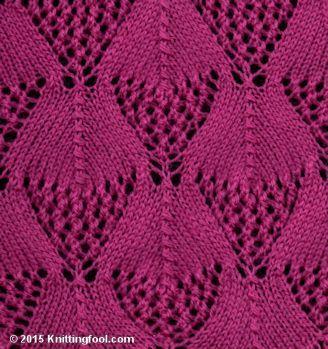 Μισό δαντέλα διαμάντι - Knittingfool Στιτς Λεπτομέρειες