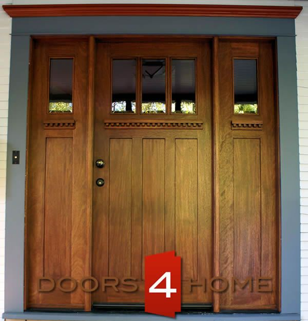 Lovely Mahogany Craftsman Entry Door