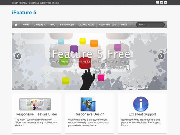 WordPress › iFeature « Free WordPress Themes
