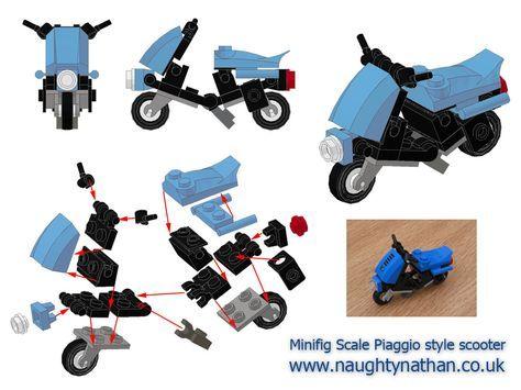 Minifig Piaggio scooter