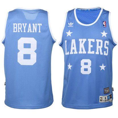 Mens Los Angeles Lakers Kobe Bryant adidas Royal Blue Hardwood Classics Swingman Jersey