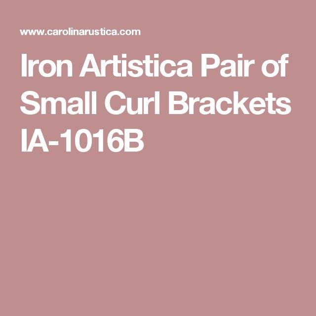 Iron Artistica Pair of Small Curl Brackets IA-1016B