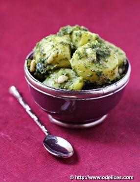 Salade de pommes de terre au pesto de câpres et persil - Ôdélices : Recettes de cuisine faciles et originales !