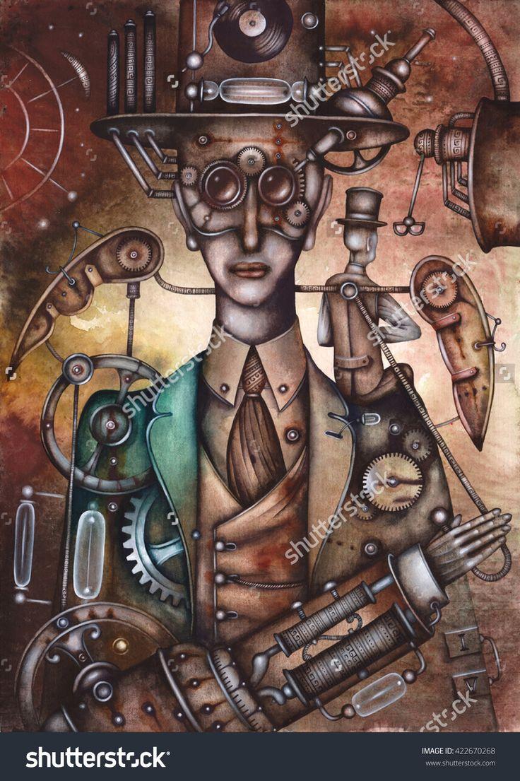 Steampunk Angel by Eugene Ivanov. #eugeneivanov #steampunk #science #fiction #fantasy #machinery #victorian #illustration #art #original  #@eugene_1_ivanov