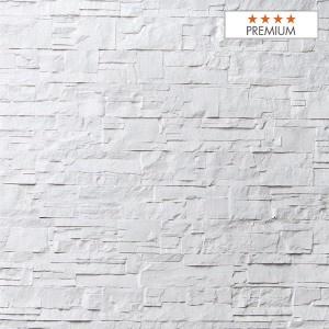 """Wandpaneel Aspen White Polyester HD Nomastone - Höhe 1300 mm x Breite 3300 mm - Pack 1 x 1 p - Qualität """"Premium"""""""