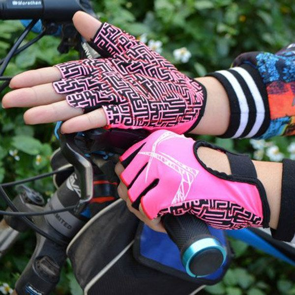 Professional Silicone Non-slip Breathable Gloves Sports Riding Half Finger Gloves