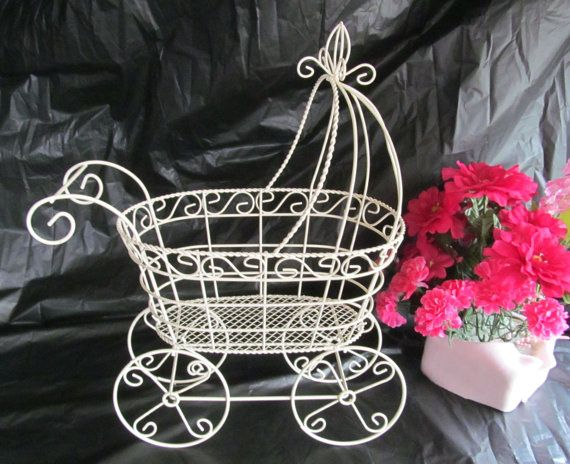 13 Antique Wire Baby Carriage Pram Great By