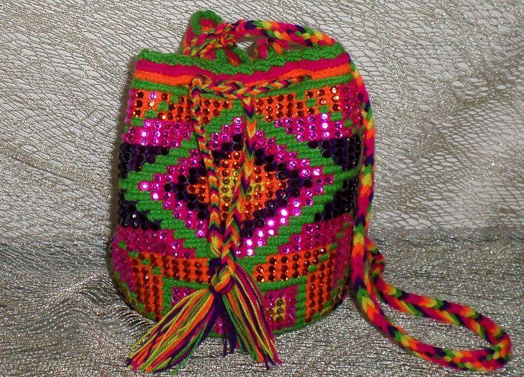 Mochila Wayuu con cristales