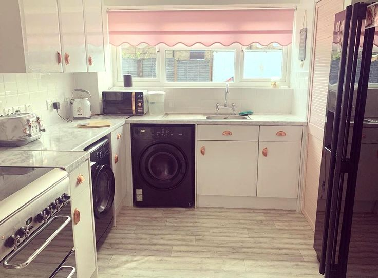 My newly renovated pink kitchen All done on a budget ...