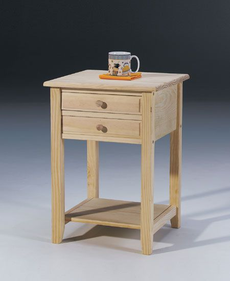 Concepts Unfinished Nightstand And There Was Cup On It
