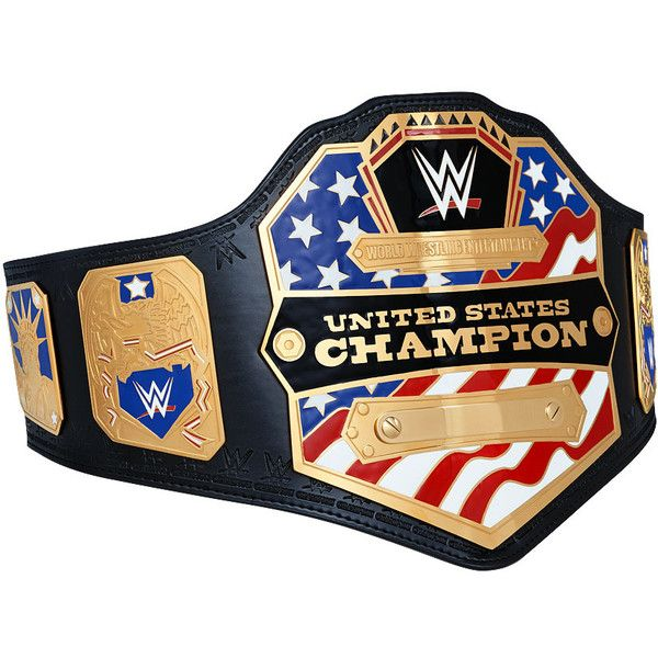 WWE United States Championship Replica Title Belt (2014) ❤ liked on Polyvore featuring accessories, belts, engraved belts and logo belts