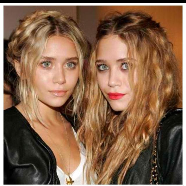 The twins ... Their hair :)