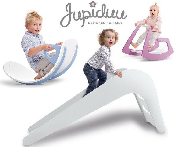 Die Jupiduu Rutsche, das Schaukelpferd und die Wippe sind tolle Möglichkeiten um einen Indoorspielplatz im Kinderzimmer zu zaubern!