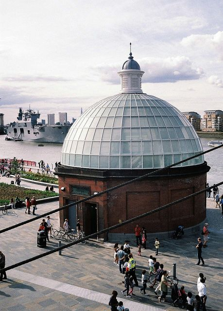 View from the deck of the Cutty Sark, Greenwich, London by Peter Back ., via Flickr You can go down here and walk under the Thames to the other bank for free.