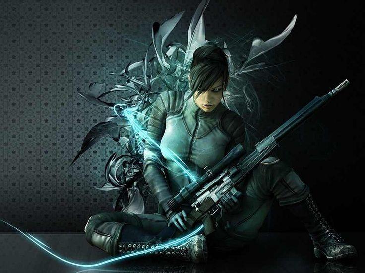 Women Warrior Artwork Sword Rain Cyberpunk Cyberpunk: Futuristic Warrior Art