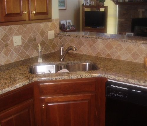 kitchens with backsplash santa cecilia granite backsplash ideas santa cecelia 13904