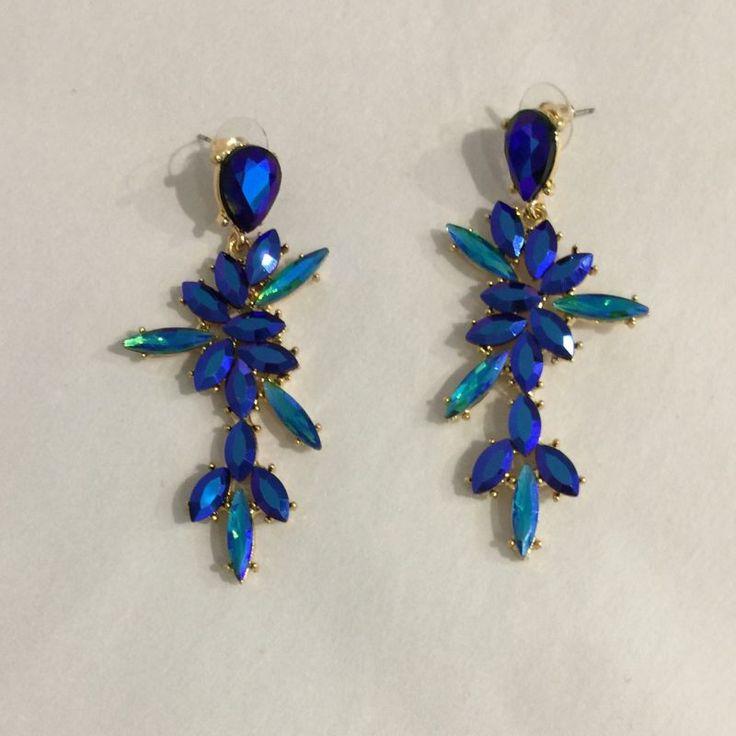 Sterk blå hengende blomst øredobb MDL – MDL 3
