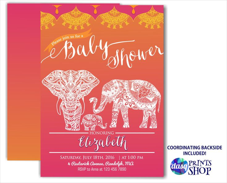 moroccan baby shower indian inspiration - elephant familiy