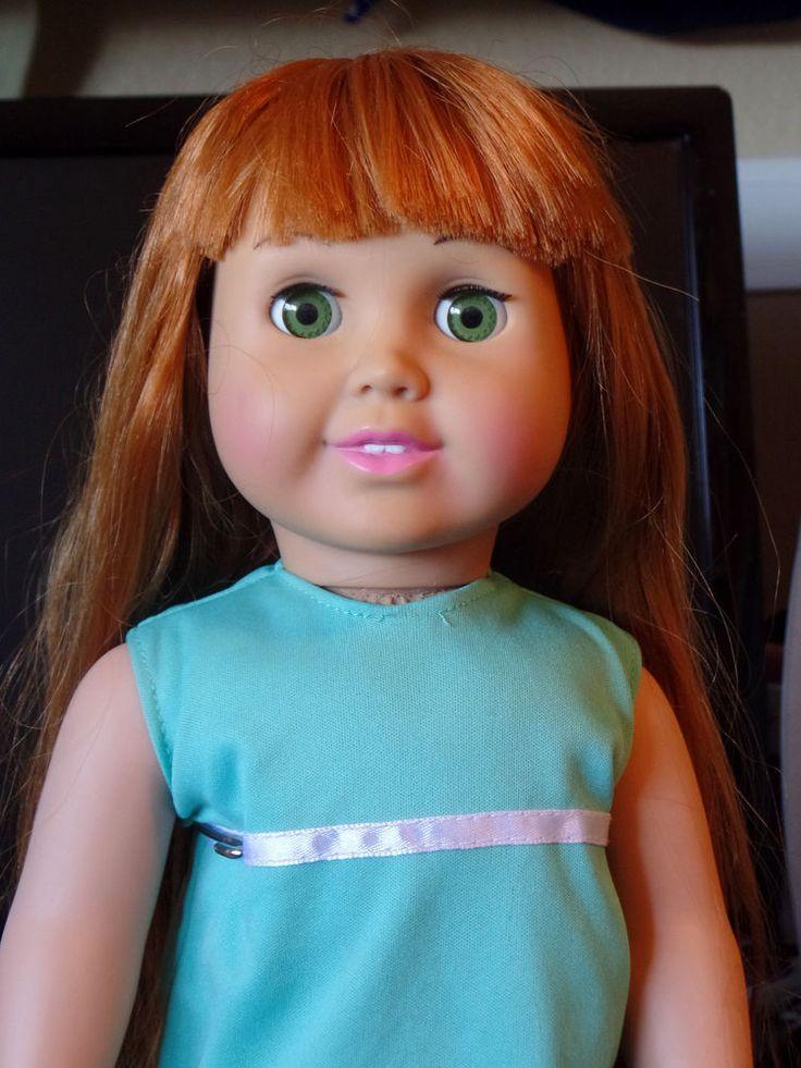 "FCM 1996 Doll 18"" Auburn to Red Hair Green Eyes Wearing ..."