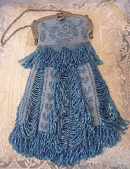 Christine Beaded Bag Purse Pattern by ArhyonelAntiques on Etsy, $9.00