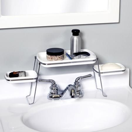 Small Spaces Over-the-Faucet Shelves