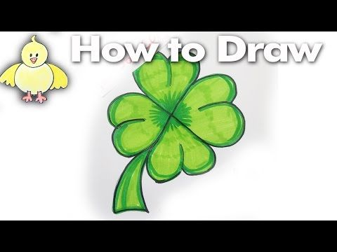 how to draw a shamrock youtube