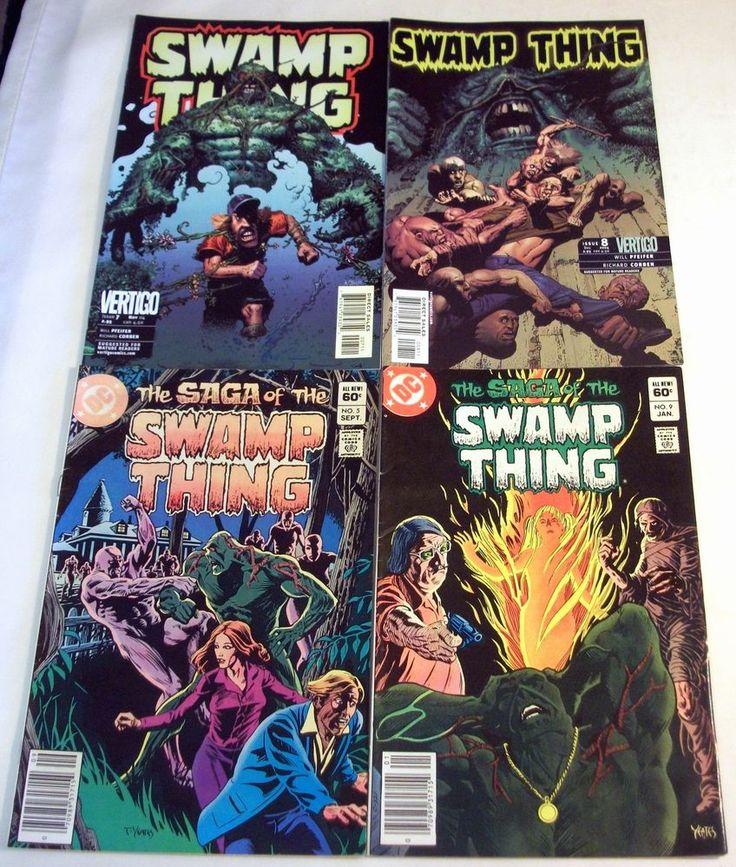 #SwampThing Lot for Sale - Saga No. 5, 9 (1983), Swamp Thing No. 7, 8 (2004) DC Vertigo #Richard CorbenCorben