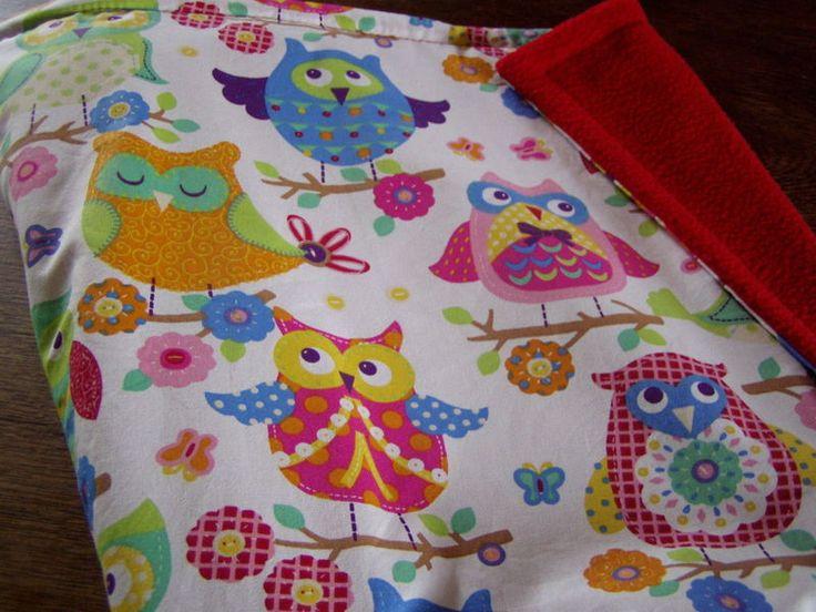 Babydecken - Eulendecke - ganz Bunt - ein Designerstück von FarbenFroh56 bei DaWanda