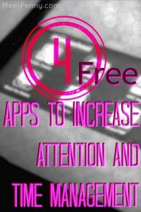 These 4 FREE apps can help anyone with attention and/or time management problems but are especially useful for adults with ADD/ADHD.