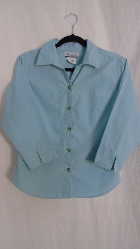 Woman's Columbia Sportswear Brand Top Size Medium #Columbia #ButtonDownShirt