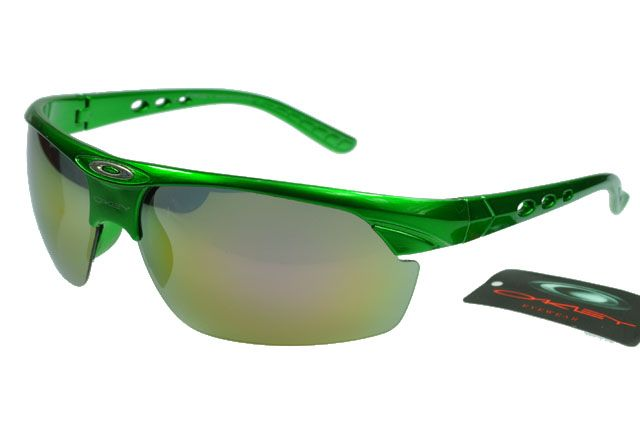 Oakley Active Sunglasses Deep Green Frame Colorful Lens B77 [OK114] - $20.68 : Top Ray-Ban® And Oakley® Sunglasses Online Sale Store- Save Up To 80% Off