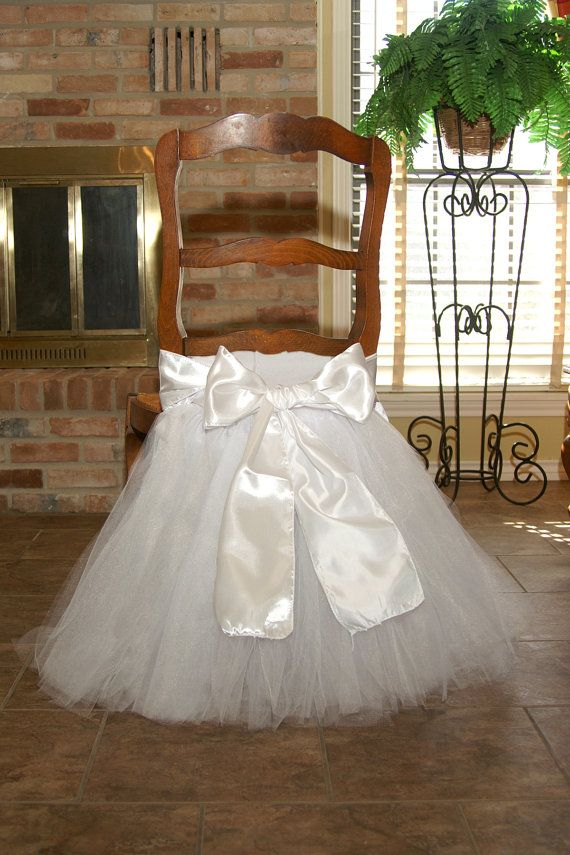 Chair tutu for bridal shower baby shower by SweetDreamsTutus