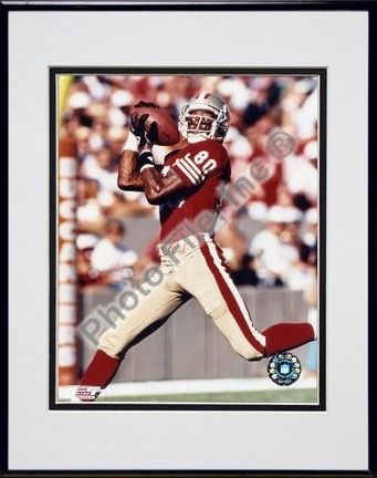 Jerry Rice Over the Shoulder Catch Double Matted 8 X 10 Photograph in a Black Anodized Aluminum Frame:… #Sport #Football #Rugby #IceHockey