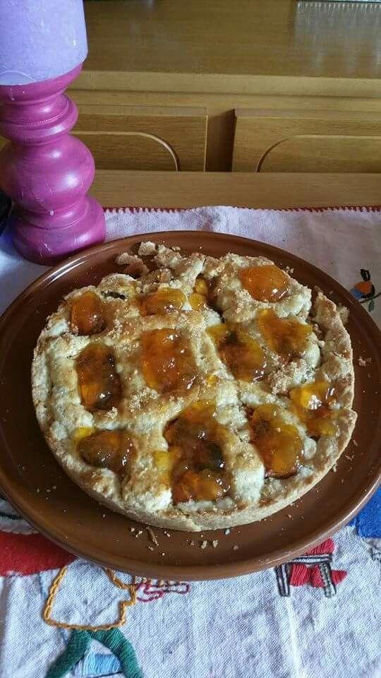 Appel perziken taart