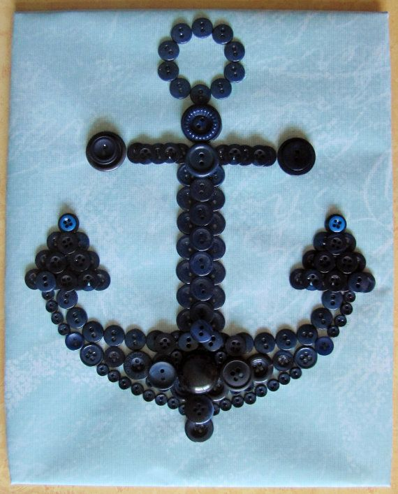 Anchor Button Art by RusticButton on Etsy