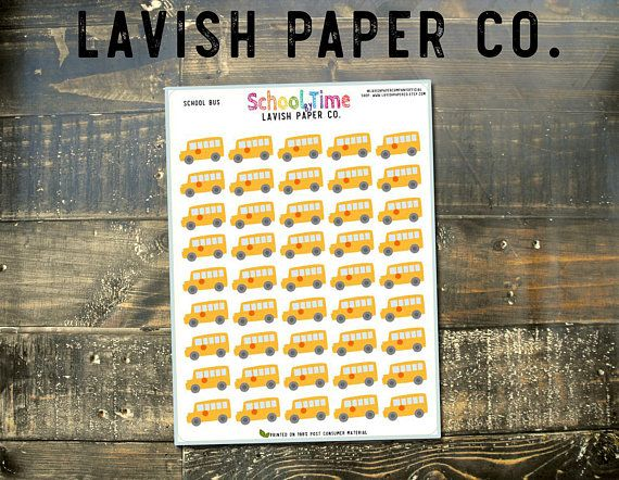 Hey, I found this really awesome Etsy listing at https://www.etsy.com/listing/245896753/school-bus-planner-stickers-by-lavish